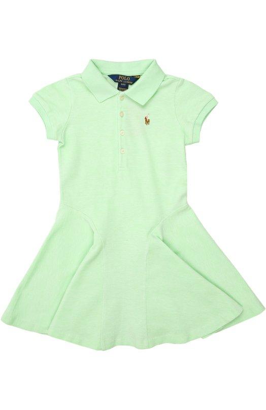 Платье джерси Polo Ralph LaurenПлатья<br><br><br>Российский размер RU: 26<br>Пол: Женский<br>Возраст: Детский<br>Размер производителя vendor: 2T<br>Материал: Хлопок: 100%;<br>Цвет: Зеленый