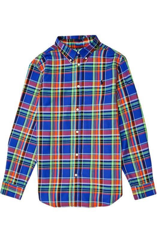 Рубашка Polo Ralph LaurenРубашки<br><br><br>Размер Years: 8<br>Пол: Мужской<br>Возраст: Детский<br>Размер производителя vendor: 128-134cm<br>Материал: Хлопок: 100%;<br>Цвет: Синий