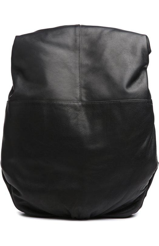 Рюкзак Cote&amp;CielРюкзаки<br>Эргономичный рюкзак сшит из мелкозернистой кожи черного цвета. Верхний клапан на молнии напоминает широкий воротник. В основное отделение поместятся бумаги формата А4, паспорт, телефон, кошелек и зонт, в большой внутренний карман – ноутбук.<br><br>Пол: Мужской<br>Возраст: Взрослый<br>Размер производителя vendor: NS<br>Материал: Кожа натуральная: 100%; Текстиль: 100%;<br>Цвет: Черный