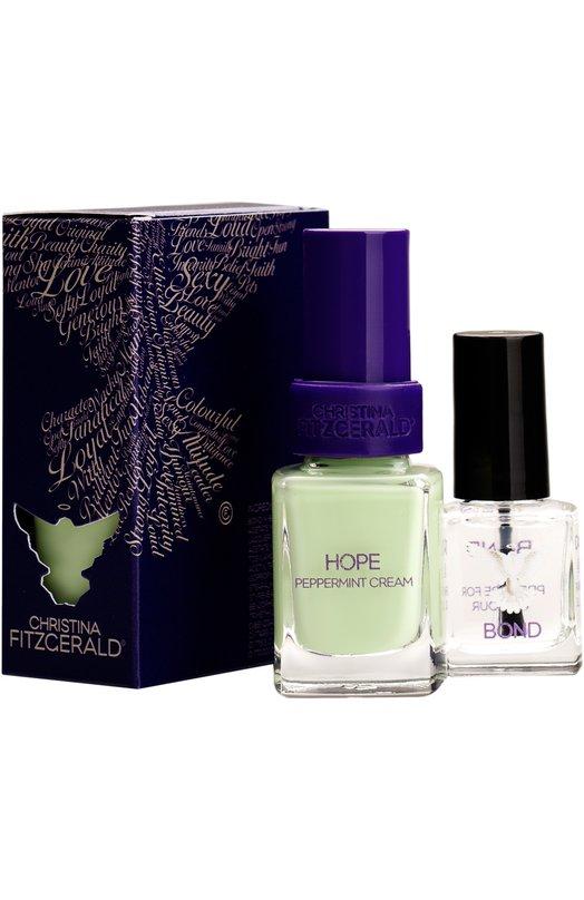 Лак для ногтей Hope / Мятное мороженое + Bond-подготовка Christina Fitzgerald 9333381001207