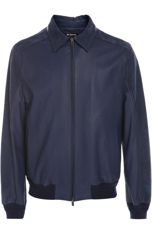 Кожаная куртка Kiton UW9918/7I91