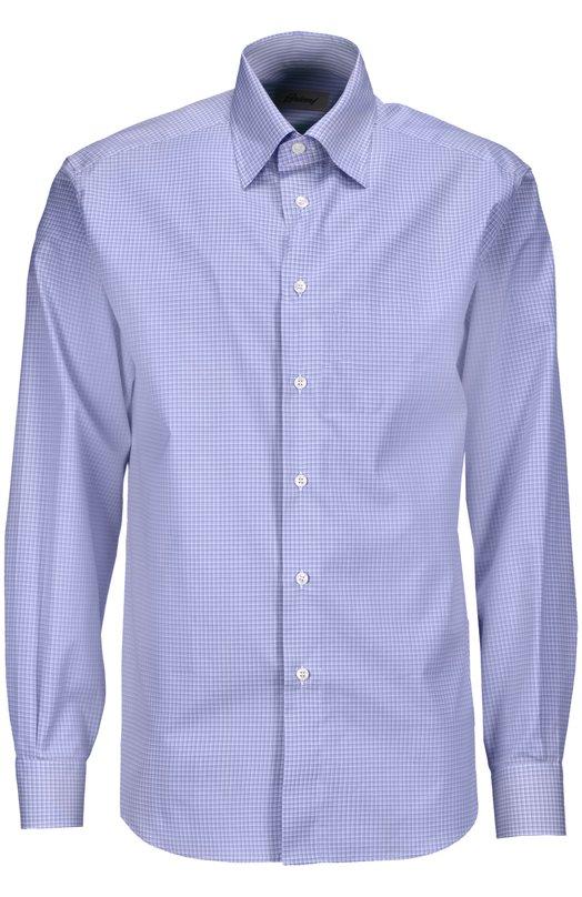 Рубашка BrioniРубашки<br><br><br>Российский размер RU: 50<br>Пол: Мужской<br>Возраст: Взрослый<br>Размер производителя vendor: L<br>Материал: Хлопок: 100%;<br>Цвет: Голубой