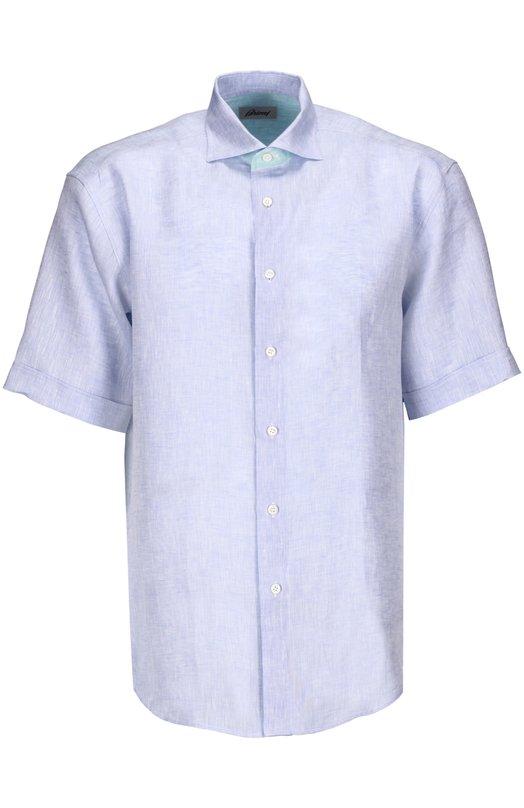 Рубашка BrioniРубашки<br><br><br>Российский размер RU: 46<br>Пол: Мужской<br>Возраст: Взрослый<br>Размер производителя vendor: S<br>Материал: Лен: 100%;<br>Цвет: Светло-голубой