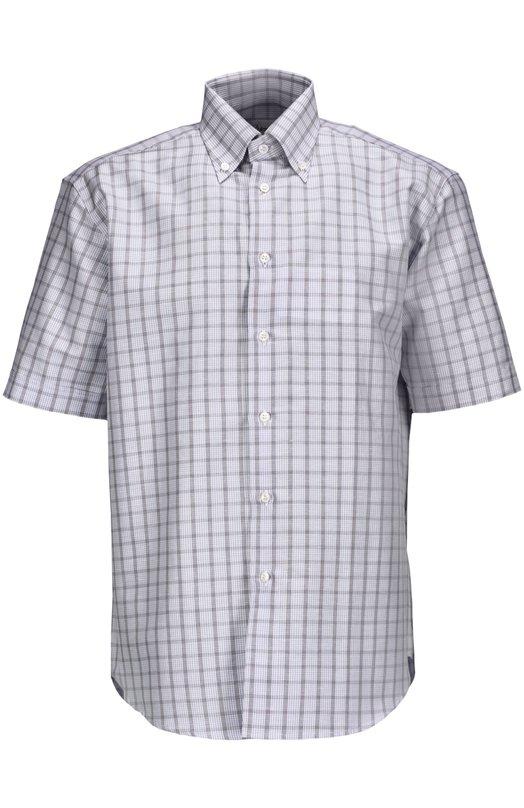 Рубашка BrioniРубашки<br><br><br>Российский размер RU: 50<br>Пол: Мужской<br>Возраст: Взрослый<br>Размер производителя vendor: L<br>Материал: Хлопок: 55%; Лен: 45%;<br>Цвет: Голубой