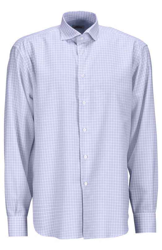 Рубашка BrioniРубашки<br><br><br>Российский размер RU: 48<br>Пол: Мужской<br>Возраст: Взрослый<br>Размер производителя vendor: M<br>Материал: Хлопок: 100%;<br>Цвет: Голубой