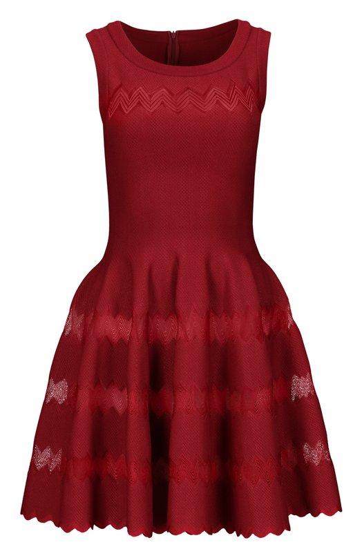 Платье AlaiaПлатья<br><br><br>Российский размер RU: 40<br>Пол: Женский<br>Возраст: Взрослый<br>Размер производителя vendor: 38<br>Материал: Вискоза: 50%; Шелк: 40%; Подкладка-шелк: 100%; Полиэстер: 10%;<br>Цвет: Красный
