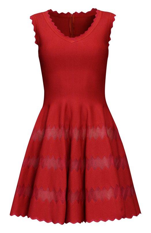 Платье AlaiaПлатья<br><br><br>Российский размер RU: 42<br>Пол: Женский<br>Возраст: Взрослый<br>Размер производителя vendor: 36<br>Материал: Вискоза: 50%; Шелк: 40%; Подкладка-шелк: 100%; Полиэстер: 10%;<br>Цвет: Красный