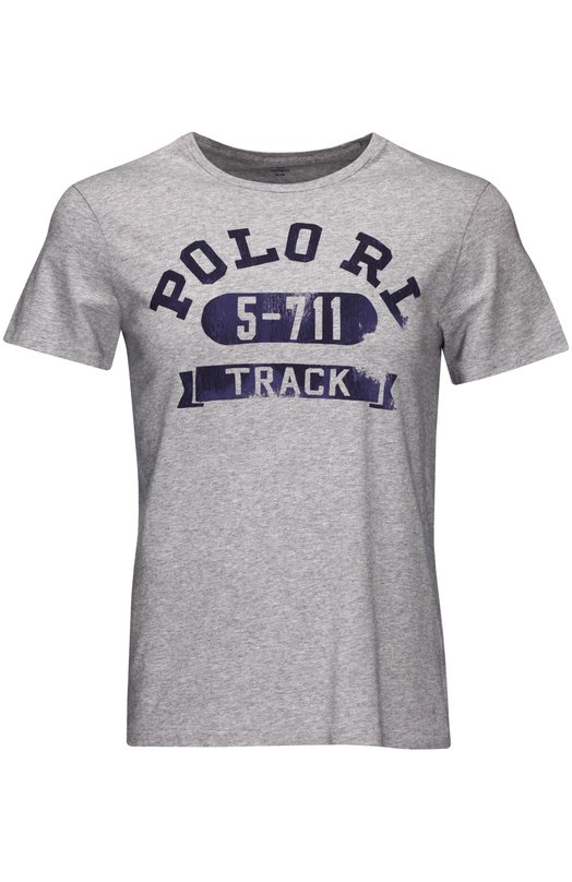 Футболка Polo Ralph LaurenФутболки<br><br><br>Российский размер RU: 50<br>Пол: Мужской<br>Возраст: Взрослый<br>Размер производителя vendor: L<br>Материал: Хлопок: 100%;<br>Цвет: Серый