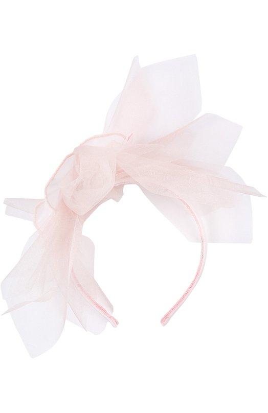 Ободок для волос MonnalisaДля волос<br><br><br>Пол: Женский<br>Возраст: Детский<br>Размер производителя vendor: NS<br>Материал: Полиамид: 95%; Эластан: 5%; Шелк: 100%;<br>Цвет: Розовый