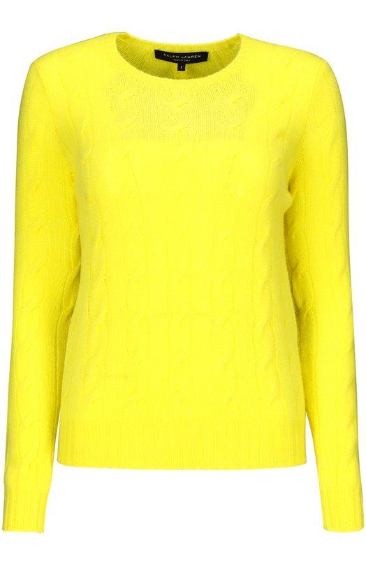 Пуловер Ralph LaurenСвитеры<br><br><br>Российский размер RU: 44<br>Пол: Женский<br>Возраст: Взрослый<br>Размер производителя vendor: M<br>Материал: Кашемир: 100%;<br>Цвет: Желтый