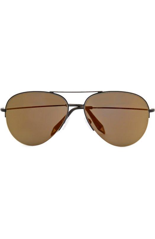 Солнцезащитные очки Victoria BeckhamОчки<br>Солнцезащитные очки Classic Victoria с двойным мостом изготовлены мастерами марки, основанной Викторией Бэкхем, из ультратонкого металла темного цвета, заушники – из термопластика в тон. Коричневые зеркальные стекла на 100% блокируют ультрафиолетовое излучение.<br><br>Пол: Женский<br>Возраст: Взрослый<br>Размер производителя vendor: NS<br>Цвет: Коричневый
