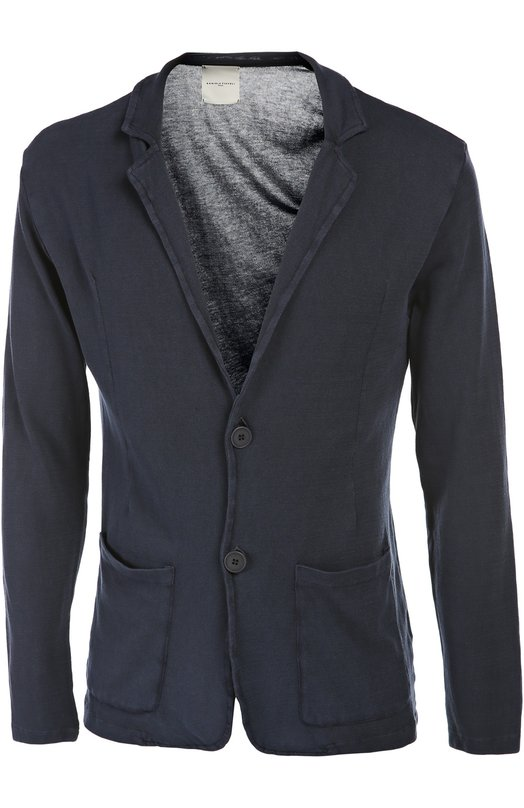 Пиджак вязаный Daniele Fiesoli. Цвет: темно-синий