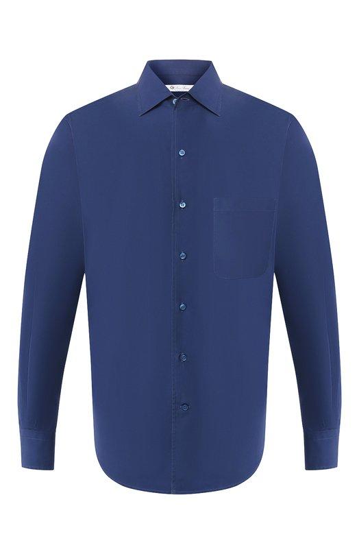 Рубашка Loro PianaРубашки<br><br><br>Российский размер RU: 48<br>Пол: Мужской<br>Возраст: Взрослый<br>Размер производителя vendor: M<br>Материал: Хлопок: 100%;<br>Цвет: Темно-синий