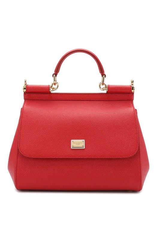 Купить Сумка Sicily medium Dolce & Gabbana, 0116/BB6002/A1001, Италия, Красный, Кожа натуральная: 100%;
