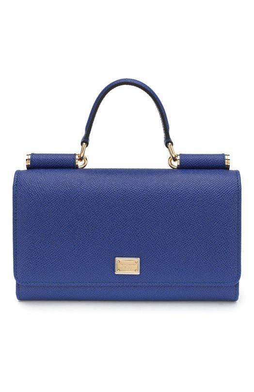 Купить Сумка Sicily Von на цепочке Dolce & Gabbana, 0116/BI0671/A1001, Италия, Синий, Кожа натуральная: 100%;