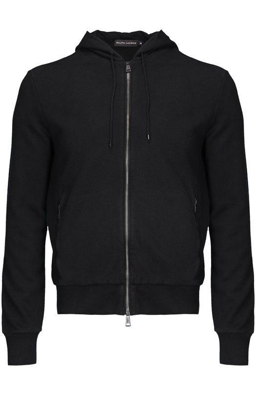 Кардиган Polo Ralph LaurenКардиганы<br>Ральф Лорен включил в коллекцию сезона осень-зима 2015 года олимпийку с длинными рукавами и капюшоном. Мастера бренда сшили модель из плотного хлопка черного цвета. Изделие и два кармана застегиваются на молнию.<br><br>Российский размер RU: 46<br>Пол: Мужской<br>Возраст: Взрослый<br>Размер производителя vendor: S<br>Материал: Хлопок: 90%; Полиэстер: 10%;<br>Цвет: Черный