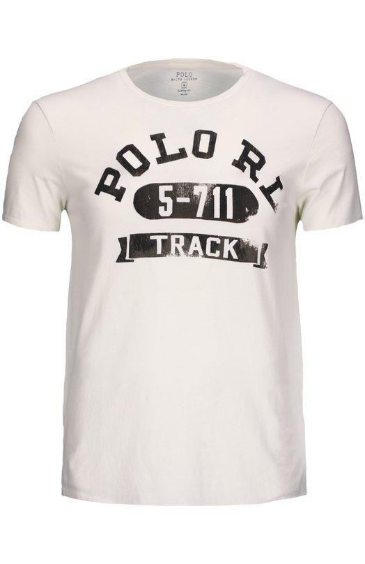 Футболка Polo Ralph LaurenФутболки<br><br><br>Российский размер RU: 50<br>Пол: Мужской<br>Возраст: Взрослый<br>Размер производителя vendor: L<br>Материал: Хлопок: 100%;<br>Цвет: Молочный