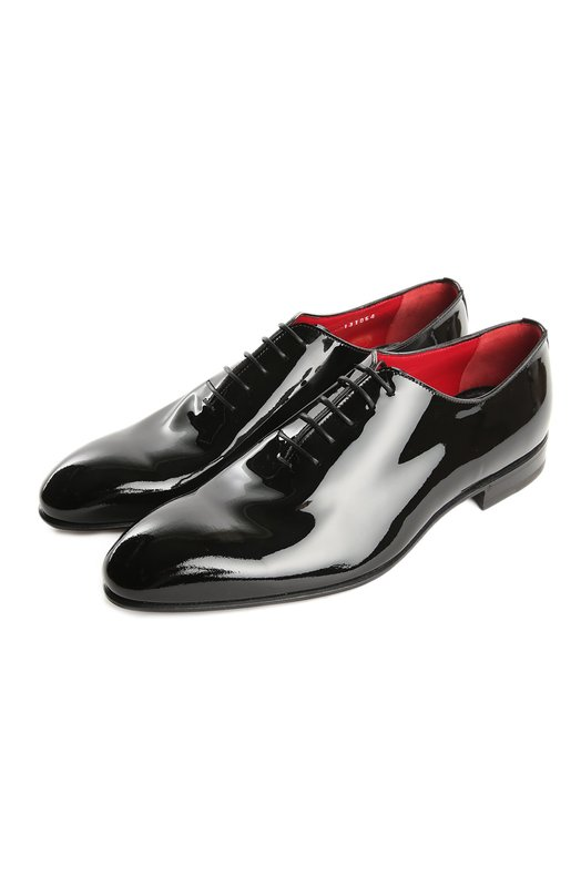 Туфли BarrettТуфли<br>Черные туфли с зауженным мысом вошли в осенне-зимнюю коллекцию бренда, основанного Джоном Ричардсоном Барретом. Туфли на невысоком каблуке изготовлены из гладкой лакированной кожи. Союзка дополнена закрытым типом шнуровки.<br><br>Российский размер RU: 43<br>Пол: Мужской<br>Возраст: Взрослый<br>Размер производителя vendor: 9-5<br>Материал: Кожа натуральная: 100%; Стелька-кожа: 100%; Подошва-кожа: 100%;<br>Цвет: Черный