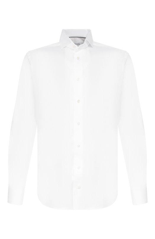 Приталенная сорочка с воротником акула EtonРубашки<br>Мастера марки использовали для создания белой рубашки с длинными рукавами эксклюзивную ткань из отборного хлопкового волокна. Модель с воротником акула вошла в коллекцию сезона весна-лето 2016 года. Советуем носить с серым костюмом, ярким галстуком и коричневыми лоферами.<br><br>Российский размер RU: 46<br>Пол: Мужской<br>Возраст: Взрослый<br>Размер производителя vendor: 37<br>Материал: Хлопок: 100%;<br>Цвет: Белый
