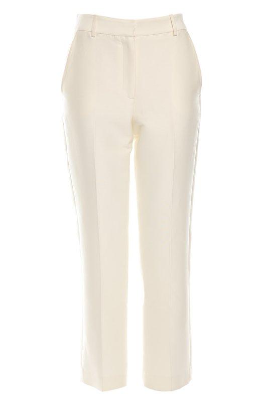 Брюки Zac PosenБрюки<br>Зак Позен включил в осенне-зимнюю коллекцию 2015 года укороченные брюки с двумя задними прорезными и двумя боковыми карманами. Модель на молнии сшита из белого хлопкового текстиля. Нам нравится сочетать с бежевыми лоферами и голубой блузой.<br><br>Российский размер RU: 40<br>Пол: Женский<br>Возраст: Взрослый<br>Размер производителя vendor: 6<br>Материал: Хлопок: 87%; Шелк: 13%;<br>Цвет: Белый