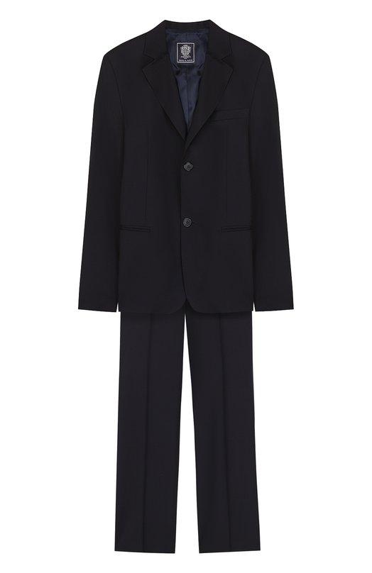 Шерстяной костюм с пиджаком на двух пуговицах Dal Lago N010/1011/XS-L