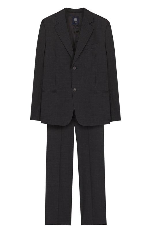 Костюм Dal LagoКостюмы<br>Дизайнер марки обновил цветовую гамму костюма из однобортного пиджака и прямых брюк со стрелками. Темно-серая модель изготовлена мастерами бренда, основанного Джорджио Даль Лаго, из мягкой тонкой шерсти.<br><br>Российский размер RU: 38<br>Пол: Мужской<br>Возраст: Детский<br>Размер производителя vendor: M<br>Материал: Шерсть овечья: 100%; Подкладка-вискоза: 100%;<br>Цвет: Темно-серый