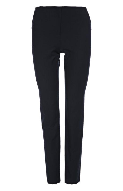 Брюки Armani CollezioniБрюки<br>В осенне-зимнюю коллекцию 2015 года вошли темно-синие брюки skinny. Мастера бренда, основанного дизайнером Джорджио Армани, использовали для изготовления модели без пояса эластичный хлопковый текстиль.<br><br>Российский размер RU: 44<br>Пол: Женский<br>Возраст: Взрослый<br>Размер производителя vendor: 42<br>Материал: Хлопок: 55%; Полиамид: 35%; Эластан: 10%;<br>Цвет: Темно-синий
