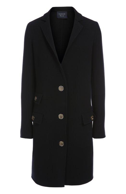 Пальто LanvinПальто и плащи<br>В осенне-зимнюю коллекцию бренда, основанного Жанной Ланван, вошло элегантное однобортное пальто с отложным воротником, на пуговицах. Модель из темно-синей шерстяной ткани дополнена тремя карманами с клапанами. Рекомендуем сочетать с укороченными брюками, рубашкой и лоферами.<br><br>Российский размер RU: 42<br>Пол: Женский<br>Возраст: Взрослый<br>Размер производителя vendor: 36<br>Материал: Шерсть: 100%;<br>Цвет: Темно-синий