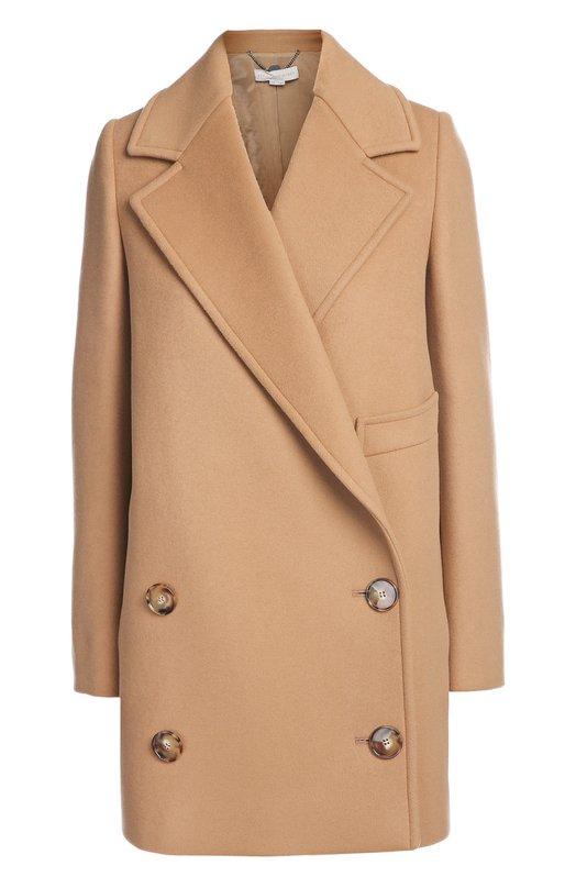 Двубортное пальто прямого кроя с широкими лацканами Stella McCartney 393143/SDB40