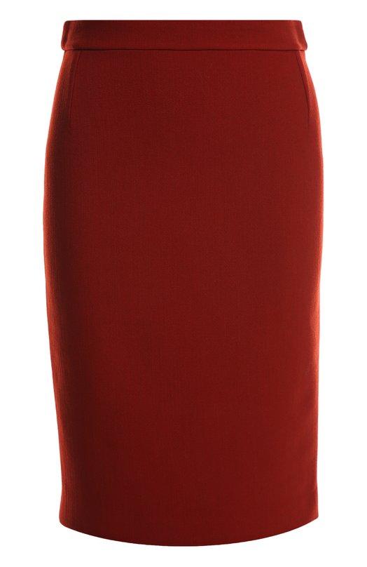 Юбка LanvinЮбки<br>В осенне-зимнюю коллекцию бренда, основанного Жанной Ланван, вошла юбка прямого кроя длиной до колена. Модель сшита из плотной полушерстяной ткани красного цвета. Наши стилисты рекомендуют сочетать с белой блузой, укороченным жакетом и  лоферами на низком каблуке.<br><br>Российский размер RU: 46<br>Пол: Женский<br>Возраст: Взрослый<br>Размер производителя vendor: 40<br>Материал: Шерсть: 77%; Эластан: 4%; Полиамид: 19%;<br>Цвет: Красный