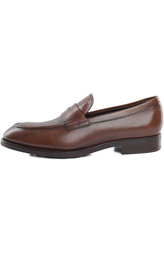 Лоферы Tod'sЛоферы<br>Пенни-лоферы коричневого цвета вошли в классическую коллекцию марки. Элегантная обувь с зауженным мысом выполнена из гладкой и мягкой кожи. Подъем декорирован полоской с треугольным вырезом, характерной для этой модели.<br><br>Российский размер RU: 43<br>Пол: Мужской<br>Возраст: Взрослый<br>Размер производителя vendor: 9<br>Материал: Кожа натуральная: 100%; Стелька-кожа: 100%; Подошва-резина: 100%;<br>Цвет: Коричневый