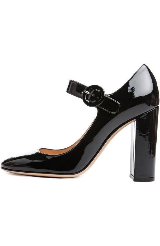 Туфли Gianvito RossiТуфли<br>Джанвито Росси включил в осенне-зимнюю коллекцию 2015 года модель mary jane. Туфли с круглым мысом, на высоком устойчивом каблуке сшиты из лаковой кожи черного цвета.  Обувь фиксируется широким ремешком, застегивающимся сбоку на черную пряжку.<br><br>Российский размер RU: 37<br>Пол: Женский<br>Возраст: Взрослый<br>Размер производителя vendor: 37-5<br>Материал: Кожа натуральная: 100%; Стелька-кожа: 100%; Подошва-кожа: 100%;<br>Цвет: Черный