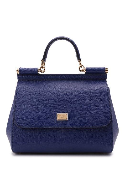 Купить Сумка Sicily medium Dolce & Gabbana, 0116/BB6002/A1001, Италия, Синий, Кожа натуральная: 100%;