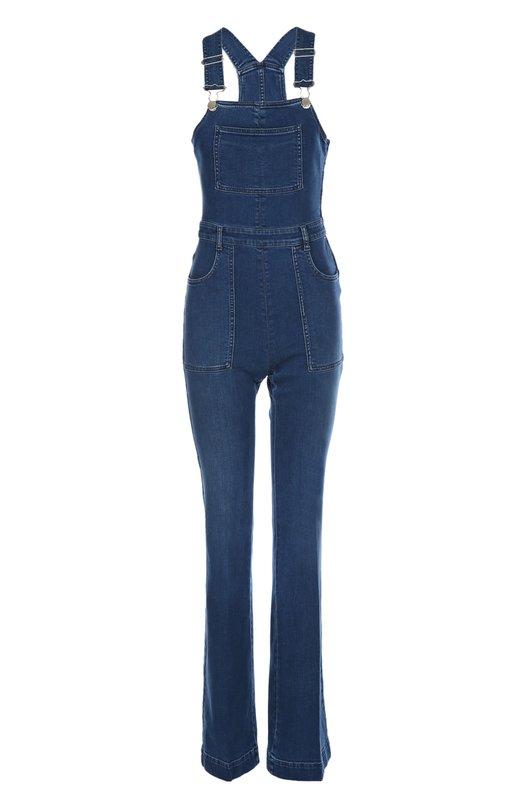 Джинсовый комбинезон Stella McCartneyКомбинезоны<br>Стелла Маккартни включила в коллекцию сезона осень-зима 2015 года облегающий джинсовый комбинезон с двуми лямками. Наши стилисты рекомендуют сочетать с белой блузой и туфлями-лодочками на высокой шпильке.<br><br>Российский размер RU: 46<br>Пол: Женский<br>Возраст: Взрослый<br>Размер производителя vendor: 38<br>Материал: Хлопок: 92%; Полиэстер: 6%; Эластан: 2%;<br>Цвет: Голубой