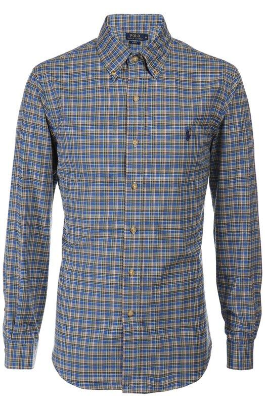 Рубашка Polo Ralph LaurenРубашки<br>Ральф Лорен включил в осенне-зимнюю коллекцию 2015 года синюю рубашку в разноцветную клетку. Модель с воротником button down сшита из тонкого эластичного хлопка. Попробуйте носить с джинсами, кардиганом и брогами.<br><br>Российский размер RU: 56<br>Пол: Мужской<br>Возраст: Взрослый<br>Размер производителя vendor: XXL<br>Материал: Хлопок: 100%;<br>Цвет: Синий