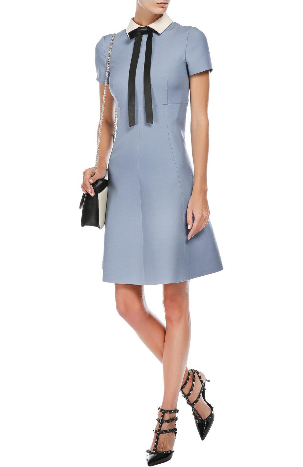 Фото голубого платья от валентино