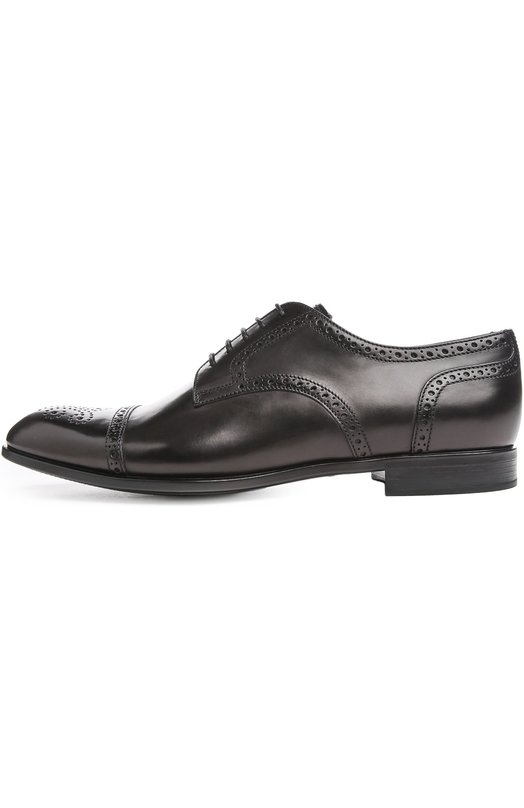 Туфли Giorgio ArmaniТуфли<br>Джорджио Армани украсил классические туфли узором, выполненным методом лазерной перфорации. Обувь с закрытым типом шнуровки, круглым мысом, на тонкой подошве и низком каблуке изготовлена из гладкой кожи черного цвета.<br><br>Российский размер RU: 43<br>Пол: Мужской<br>Возраст: Взрослый<br>Размер производителя vendor: 9-5<br>Материал: Кожа натуральная: 100%; Стелька-кожа: 100%; Подошва-резина: 100%;<br>Цвет: Черный