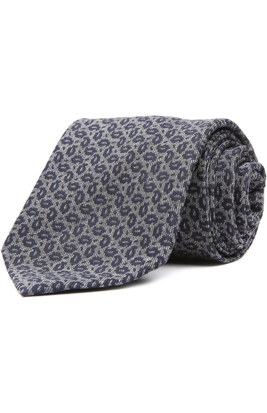 Купить Галстук Brioni, 063I/04ATW, Италия, Темно-синий, Шелк: 100%;