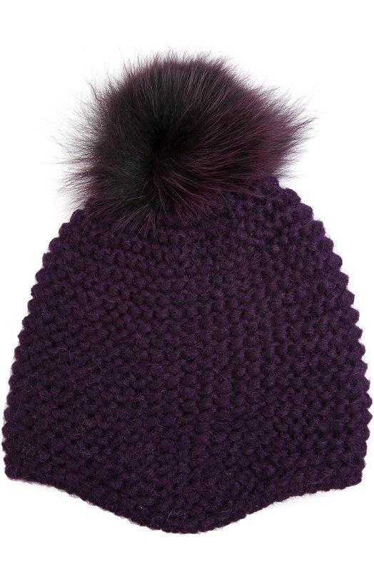 Вязаная шапка с помпоном Inverni 2609CMG1