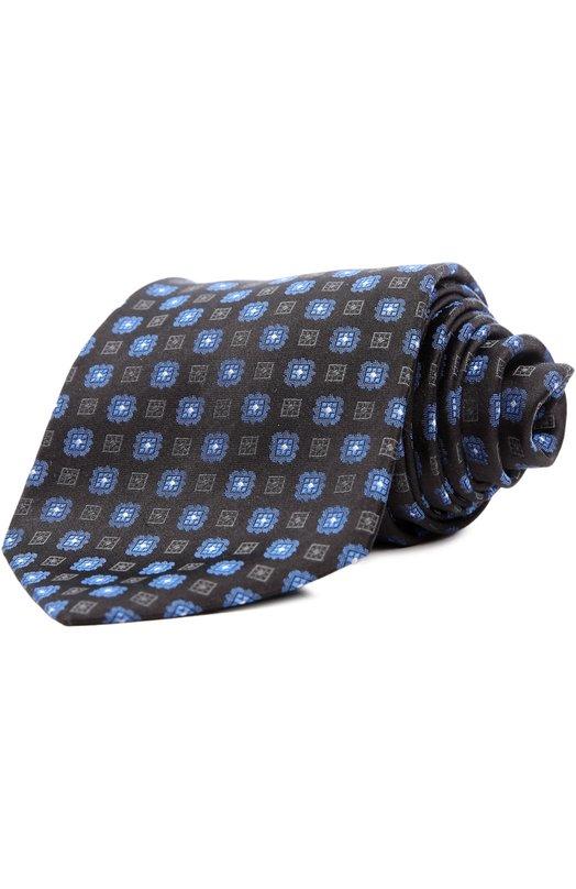 Купить Галстук Kiton, KL/C4D74, Италия, Черный, Шелк: 100%;