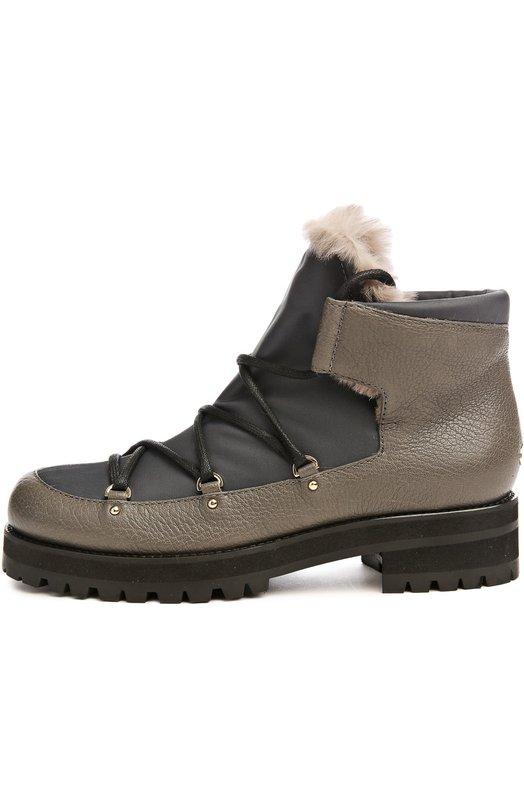 Утепленные ботинки Ditto на шнуровке Jimmy Choo DITT0 FLAT/EGI