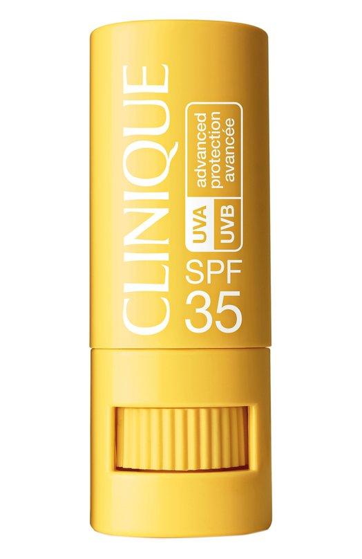 Солнцезащитный крем-стик c SPF35 для чувствительной кожи вокруг глаз, губ и любых других участков лица и тела CliniqueСолнечная линия<br>Крем-стик Targeted Protection Stick SPF 35 защищает чувствительные участки кожи, которые наиболее подвержены негативному влиянию солнечных лучей. Удобная форма этого средства помогает комфортно наносить его на губы, веки, уши. Крем смягчает и увлажняет кожу, не содержит жира и не забивает поры.<br><br>Объем мл: 0<br>Пол: Женский<br>Возраст: Взрослый<br>Цвет: Бесцветный