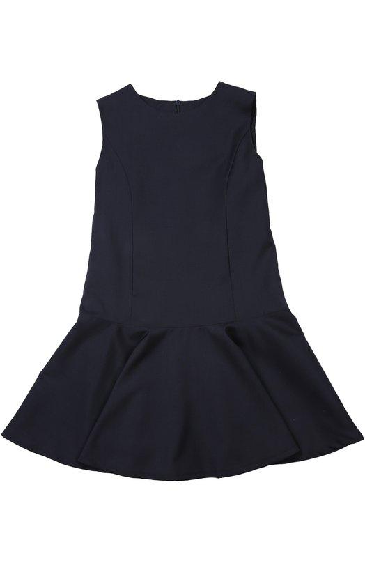 Платье Dal LagoПлатья<br>В осенне-зимнюю коллекцию 2015 года вошло платье без рукавов. Элегантная модель с круглым вырезом и потайной молнией выполнена мастерами марки, основанной семьей Даль Лаго, из плотной шерсти темно-синего цвета.<br><br>Российский размер RU: 36<br>Пол: Женский<br>Возраст: Детский<br>Размер производителя vendor: 8<br>Материал: Шерсть овечья: 100%; Подкладка-полиэстер: 100%;<br>Цвет: Синий