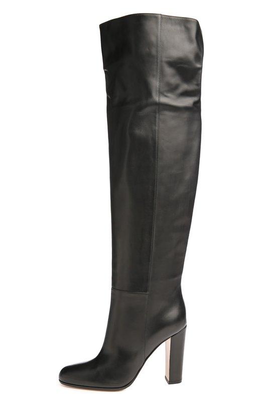 Кожаные сапоги на устойчивом каблуке Gianvito Rossi G80985/VITELL0