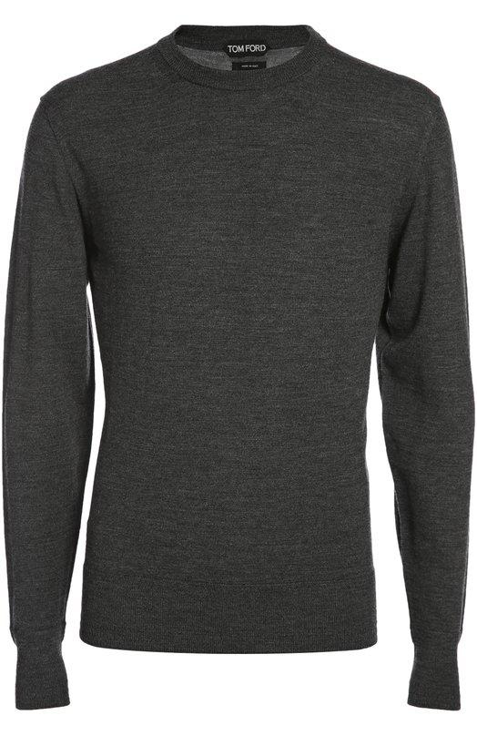 Вязаный пуловер Tom FordСвитеры<br><br><br>Российский размер RU: 58<br>Пол: Мужской<br>Возраст: Взрослый<br>Размер производителя vendor: 58<br>Материал: Шерсть меринос: 100%;<br>Цвет: Темно-серый