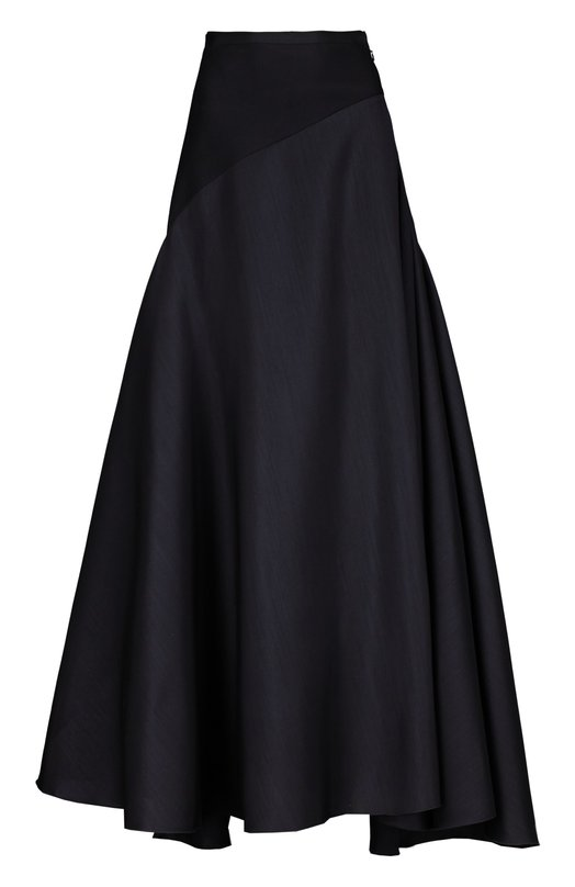 Вечерняя юбка LanvinЮбки<br>В коллекцию осенне-зимнего сезона 2015 года вошла черная расклешенная юбка на асимметричной кокетке, застегивающаяся на боковую молнию. Мастера бренда, основанного Жанной Ланван, использовали для изготовления вечерней модели тонкую шерсть с добавлением шелка.<br><br>Российский размер RU: 42<br>Пол: Женский<br>Возраст: Взрослый<br>Размер производителя vendor: 36<br>Материал: Шелк: 20%; Подкладка-шелк: 100%; Шерсть: 100%;<br>Цвет: Черный