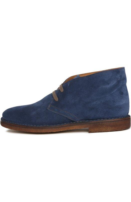 Ботинки UitБотинки<br>В осенне-зимнюю коллекцию 2015 года вошли ботинки чакка на прорезиненной подошве с небольшим каблуком, на текстильной шнуровке коричневого цвета. При производстве модели была использована бархатистая замша синего цвета.<br><br>Российский размер RU: 42<br>Пол: Мужской<br>Возраст: Взрослый<br>Размер производителя vendor: 42<br>Материал: Стелька-кожа: 100%; Подошва-резина: 100%; Замша натуральная: 100%;<br>Цвет: Синий