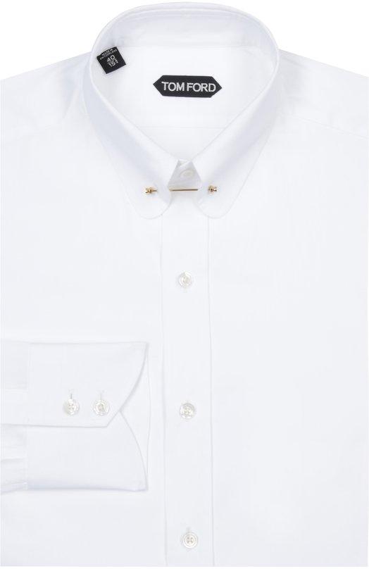 Сорочка с булавкой Tom FordРубашки<br><br><br>Российский размер RU: 43<br>Пол: Мужской<br>Возраст: Взрослый<br>Размер производителя vendor: 43<br>Материал: Хлопок: 100%;<br>Цвет: Белый
