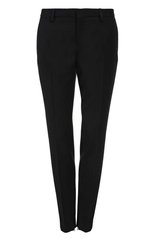 Брюки Saint LaurentБрюки<br>Эди Слиман включил в осенне-зимнюю колекцию 2015 года зауженные брюки со стрелками, выполненные в лаконичном дизайне. Мастера марки, основанной Ивом Сен-Лораном, сшили изделие из мягкой тонкой шерсти. Нам нравится носить с блузой, пальто и челси в тон.<br><br>Российский размер RU: 44<br>Пол: Женский<br>Возраст: Взрослый<br>Размер производителя vendor: 38<br>Материал: Шерсть: 100%;<br>Цвет: Черный