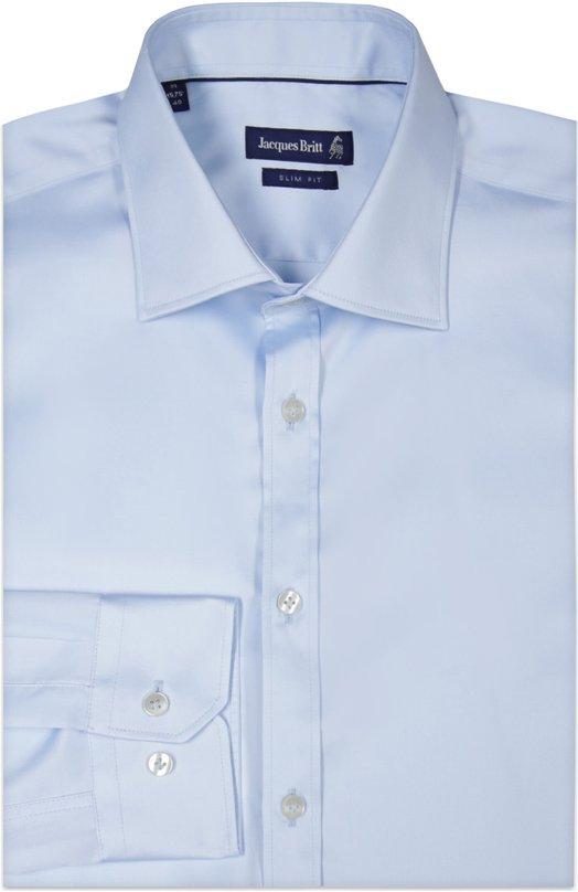 Сорочка Jacques BrittРубашки<br>В классическую коллекцию вошла рубашка силуэта slim fit. Модель с воротником акула сшита из мягкого и гладкого хлопка светло-голубого цвета. Изделие и длинные рукава застегиваются на светлые пуговицы.<br><br>Российский размер RU: 41<br>Пол: Мужской<br>Возраст: Взрослый<br>Размер производителя vendor: 41<br>Материал: Хлопок: 100%;<br>Цвет: Голубой